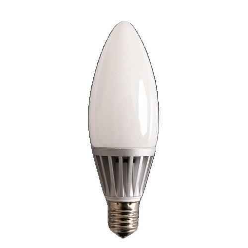 LED電球 BELLED ベルド シャンデリア球 LED-023【電球 led ledライト シャンデリア ホワイトカバー 電球色 E17 17mm 17口金 17 40W相当 40w 480lm 口金 照明器具 エコ 節電 インテリア】