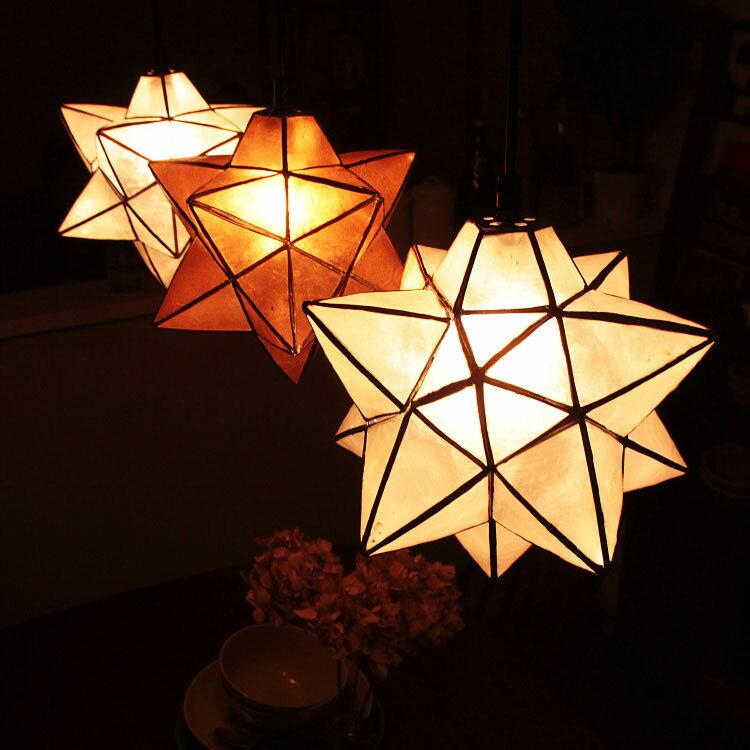 LED 対応 ペンダントライト 1灯 ルチェルカ ロハス スターペンダント[Lu Cerca Roxas Star Pendant] 天井照明 間接照明 照明器具 おしゃれ 子供部屋 北欧 寝室 かわいい 星 星型 星形 ダイニング用 食卓用 インテリア 電気 ライト ランプ デザイン