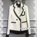 レディース ツイードパイピングジャケット白黒2カラー 20代30代40代50代60代ミセス 結婚式披露宴二次会パーティ女子会通勤お呼ばれ上品フォーマルクラシック 高品質