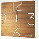 【ヤマト工芸】 掛け時計 PUZZLE 電波時計 ウォールナット 【インテリア・寝具・収納:時計:掛け時計】