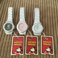 ハイブリッドセラミックミッキー時計 【MICKEY MOUSE ファッション時計 腕時計 ミッキーマウス】 フェイス、ベルトともにハイブリッドセラミックを使用した腕時計