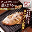 【BSP】【数量限定】在庫処分!グリル専用焼き魚トレーワイド マーブル