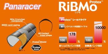 Panaracer(パナレーサー)RiBMoPT(Protex)リブモプロテックス【タイヤ】【自転車】【ピストバイク】【ロード】【マウンテン】700C(bebike)