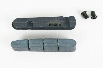R55C4(BR-9000,BR-6800)カートリッジタイプブレーキシュー&固定ネジ(左右ペア)カーボンリム用シマノ製(Y8L298070)【自転車】(bebike)
