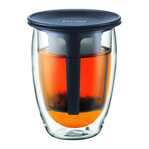 BODUM ボダム TEA FOR ONE ティーフォーワン ティーフィルター付き ダブルウォール グラス
