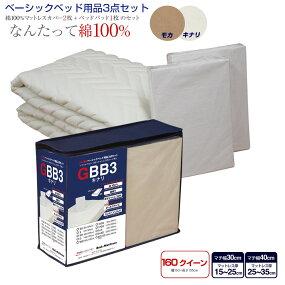 ベーシックベッド用品3点セットシングルキナリ【送料無料】