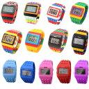 楽天ケイロスNEW COLOR入荷 カラフル ウォッチ 腕時計 LED ユニセックス メンズ レディース 20色 スポーツ キッズ用にもおすすめ