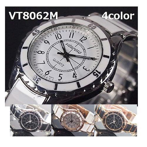 VITAROSOメンズ腕時計 メタルウォッチ 日本製ムーブメント レディース 生活防水