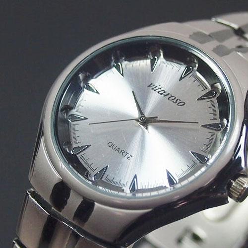 VITAROSO メンズ腕時計 レディース メタルウォッチ 日本製ムーブメント チタニウム仕上げ 生活防水