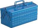 TRUSCO(トラスコ) 2段工具箱 350X160X215 ブルー【1個】【ST350B】(工具箱 ツールバッグ/スチール製工具箱)