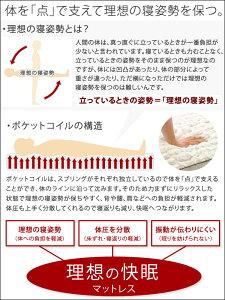 送料無料ポケットコイル・マットレス(ソフト)(シングル)
