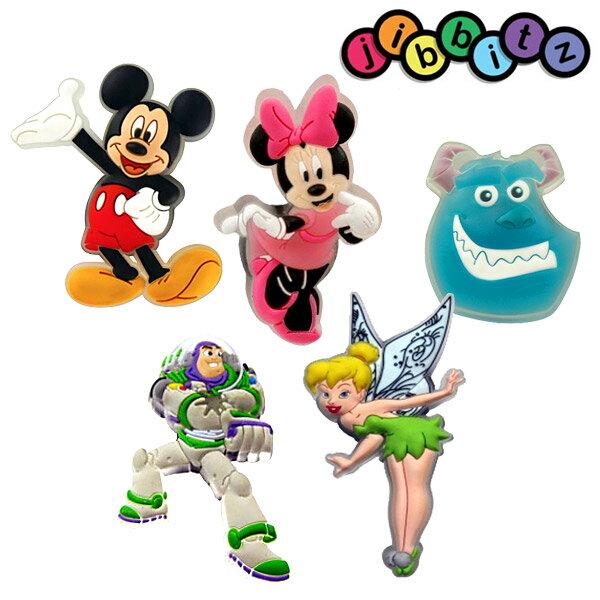 【アウトレット】jibbitz ジビッツ CROCS クロックスに最適 ディズニー ミッキー ミニー バズライトイヤー サリー ティンカーベル キッズ 子供 サンダル【あす楽対応】【ゆうパケット対応】