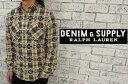DENIM&SUPPLY by Ralph Lauren  ラルフローレン デニム&サプライ 花柄&チェック フランネル シャツ  あす楽