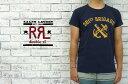 【RRL】ラルフローレン DOUBLE RL ダブルアールエル アンカー&キャノン プリント Tシャツ/NAVY【あす楽】