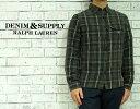 DENIM&SUPPLY デニム&サプライ ライト フランネル チェック シャツ ■