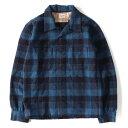 TENDERLOIN (テンダーロイン) 13A/W チェックウールワークシャツ(T-WOOL SHT WP) ブルー XS 【メンズ】【K2562】【中古】【あす楽☆対応可】