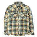 TMT (ティーエムティー) ネップウエスタンチェックネルシャツ イエロー S 【メンズ】【美品】【K2336】【中古】【あす楽☆対応可】