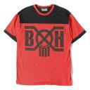 BOUNTY HUNTER (バウンティーハンター) B×HロゴフットボールTシャツ レッド×ブラック L 【メンズ】【K2610】【中古】