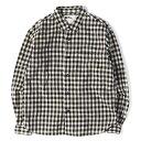MARGARET HOWELL (マーガレットハウエル) 17A/W ブロックチェックフランネルシャツ MHL オフホワイト×ブラック S 【メンズ】【中古】【K2267】【あす楽☆対応可】