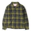TENDERLOIN (テンダーロイン) オープンカラーチェックウールシャツ(T-WOOL SHT P) オリーブ XS 【メンズ】【中古】【美品】【K2498】【あす楽☆対応可】