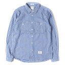 BEDWIN (ベドウィン) カラーネップギンガムチェックネルシャツ ブルー×ホワイト 1 【メンズ】【中古】【美品】【K2508】【あす楽☆対応可】