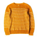 ショッピングブラウン DELUXE (デラックス) ニット パネルボーダー モヘア ニット セーター (BLAKE) ライトブラウン M 【メンズ】【中古】【美品】【K2499】【あす楽☆対応可】