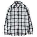 SON OF THE CHEESE サノバチーズ シャツ チェックライン レーヨン ボタン シャツ PULL CHECK SHIRTS 日本製 グレー ブラック M 【メンズ】【中古】【K2450】【あす楽☆対応可】