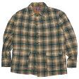 PENDLETON(ペンドルトン) 70's チェックウールコート ヴィンテージ ブラウン×グリーン系 XL 15040198 【中古】