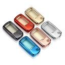 フォルクスワーゲン キーカバー メタリック TPU製 全6色 送料無料 キーケース メッキ VW Volkswagen ビートル ゴルフ など 専用設計 スマートキー キーホルダー