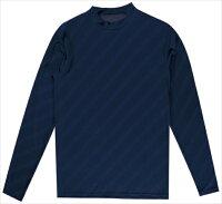 【代引不可】SPAZIO(スパッツィオ) GE0506-21ストライプロゴインナーシャツ ネイビー GE0506 フットサルの画像