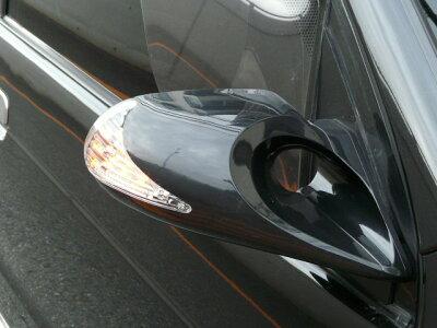 GTミラー BK6 LED付き エアロミラー 手動 スバル ミツビシ マツダ車