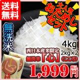 【】【平成26年産】当店人気No.1無洗米「心」(こころ)価格2kg2個1999!【HLSDU】