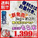 平成30年産 九州産 ヒヨクモチ米 無洗米 「もち米」3kg単位小分け 無洗米もち米