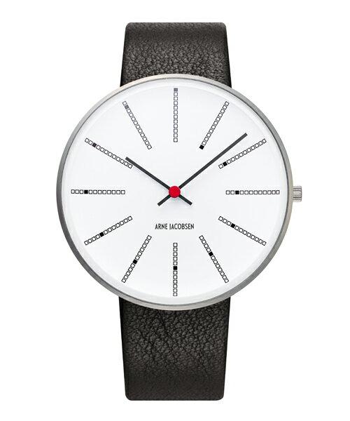 アルネヤコブセン 腕時計バンカーズ ウォッチ 40mm Arne Jacobsen Bankers Watch Lether 53102-2001ローゼンダール ROSENDAHL【送料無料 】【正規取扱店】 NEW!ヤコブセンウォッチが新たにリューズ使用となって生まれ変わりました。