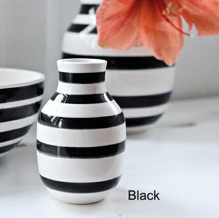 ケーラー Kahler オマジオ 花瓶 Omaggio Vase オマジオ フラワーベース(S) ブラック 11960 small スモール H:12.5cm 陶器 ベース 北欧 花びん ギフト