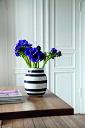 Kahler ケーラーOmaggio Vase オマジオ フラワーベース (M) medium ミディアム H:20cm カラー:ブラック花瓶 陶器 ベース 北欧 花びん ギフト