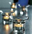 ガラス製 キャンドルスタンドROSENDAHL ローゼンダール社 コペンハーゲン #35515 グラス ヴォティブ 2個セット キャンドルホルダー Glass Votive w/ste el band, 2 pcs.北欧雑貨 キャンドル インテリア【 あす楽 】
