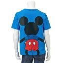【Disney】ディズニー みんなでつながるサッカー応援ディズニーTシャツ(メンズ) 「ミッキーマウス(ブルー)」 S M L LL 3L メンズファッション メンズ カットソー Tシャツ 半袖 サッカー 応援 観戦