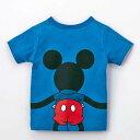 【Disney】ディズニー みんなでつながるサッカー応援ディズニーTシャツ(キッズ) 「ミッキーマウ...