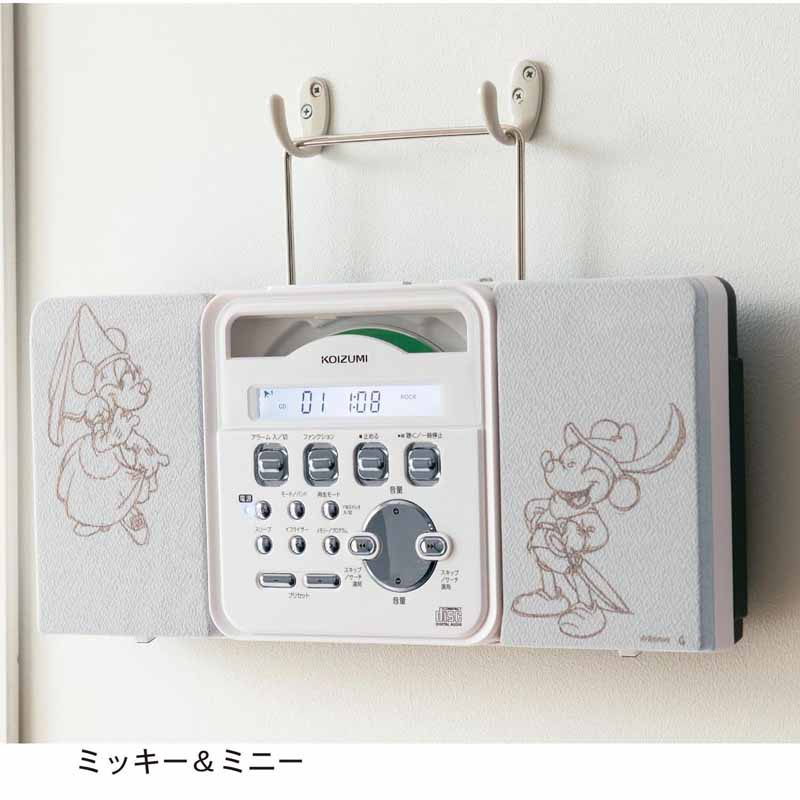 DisneyディズニーCDラジオプレイヤーミッキー&ミニーくまのプーさん家電生活家電リビング寝室女性