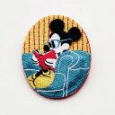 【Disney】ディズニー 刺繍ブローチ ミッキーマウス(読...