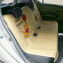 【Disney】ディズニー 防水カーシートカバー 「くまのプーさん」 ◆ フロント用2枚 リア用 ◆ ◇ カー用品 カーグッズ 車用品 カーシートカバー クッション 汚れ 帽子 ◇