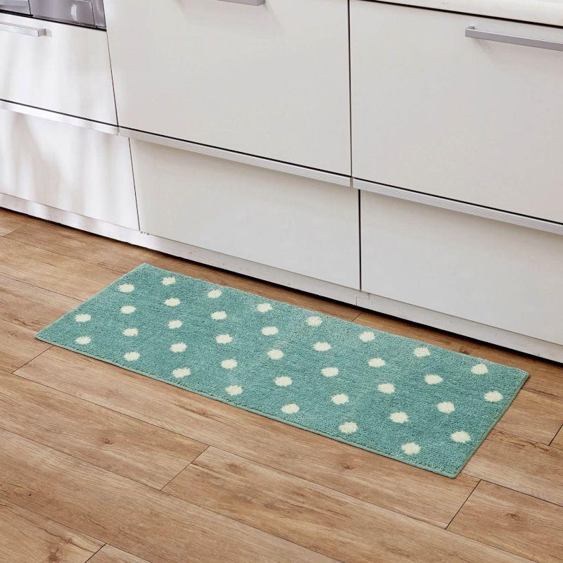 BELLEMAISONベルメゾンマイクロファイバーのキッチンマット「ブルー」約45×120◇キッチン