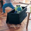 ベルメゾン スタッキングできる折りたたみ式収納ボックス 「ブ...