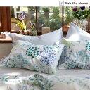 ベルメゾン 草花柄の綿100%枕カバー 「ブルー系」 ◆ 約43×63cm用 ◆ ◇ ベルメゾン 寝具 布団 ベッド カバー 枕 カバー ピロー ピローケース bed ファブリック ◇