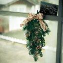 ショッピングベルメゾン ベルメゾン 壁に飾れるフェイクグリーンのクリスマススワッグ ◇ フェイク グリーン フラワー 観葉 植物 触媒 ◇