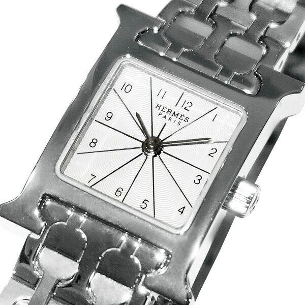【】HERMES エルメス Hウォッチ ミニサイズ HH1.110.260.4835 シルバー文字盤 【レディース】【クオーツ】【腕時計】