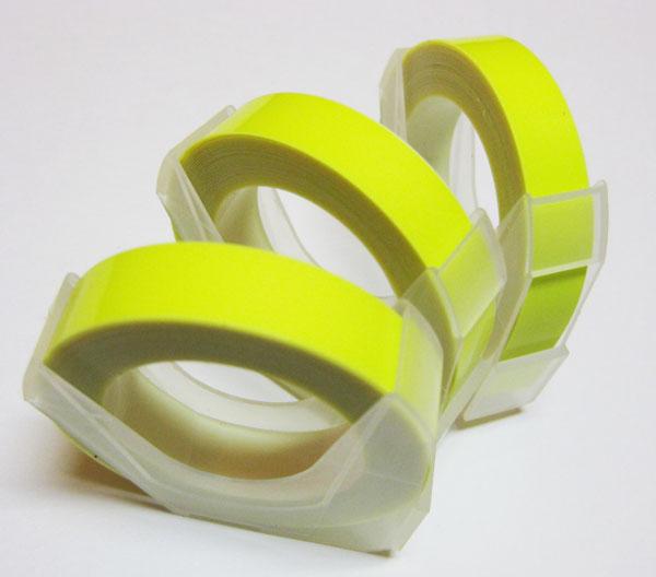 ◎マシューズテープ RM900KYL 蛍光イエロー 9mm×3m レーチェル&マシュー ダイモ/DYMOに使えます/ダイモテープ