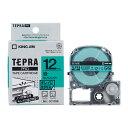 楽天べるえぽキングジム テプラPROテープカートリッジ(SC12GE)キレイにはがせるラベル 緑ラベル黒文字 12mm幅 KING JIM TEPRA 「テプラ」PROテープカートリッジ