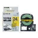 楽天べるえぽキングジム テプラPROテープカートリッジ (SC24YE) キレイにはがせるラベル 黄色 24mm幅 KING JIM TEPRA 「テプラ」PROテープカートリッジ